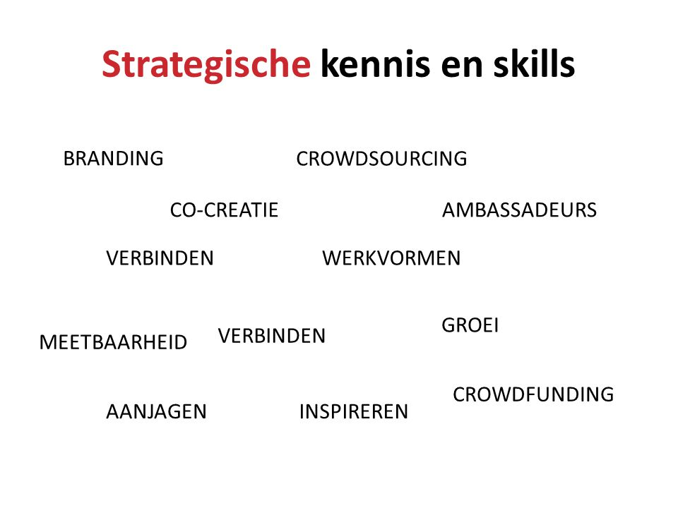 Strategische kennis en skills
