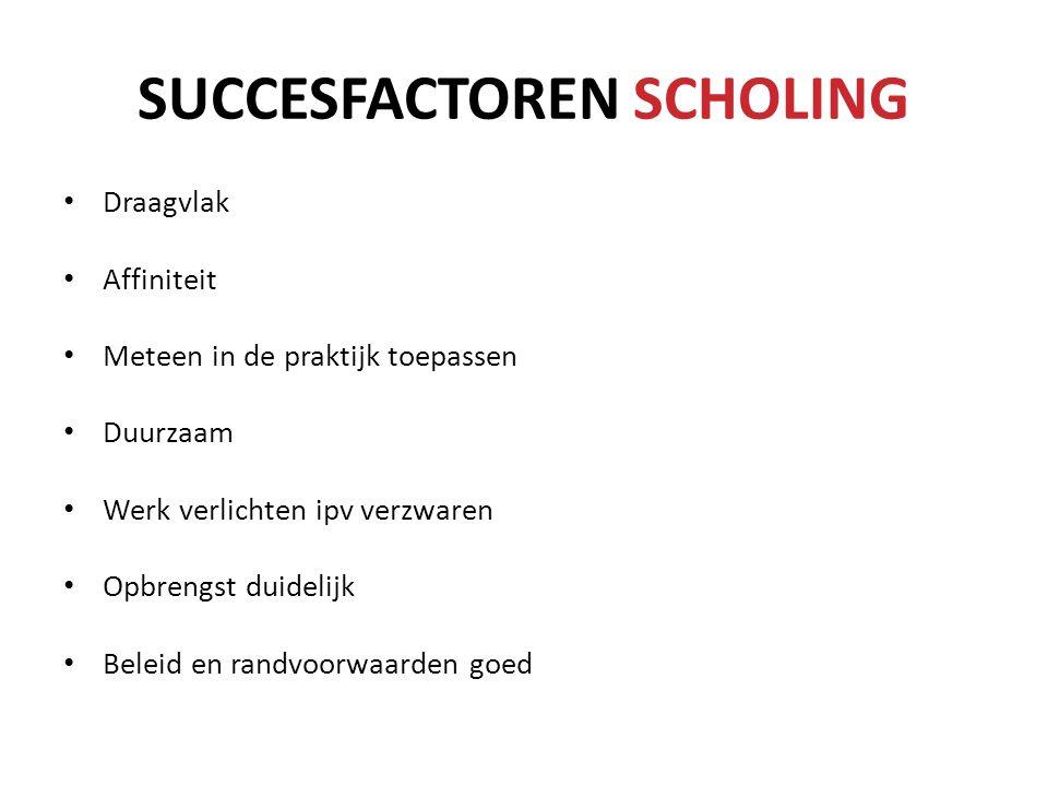 SUCCESFACTOREN SCHOLING