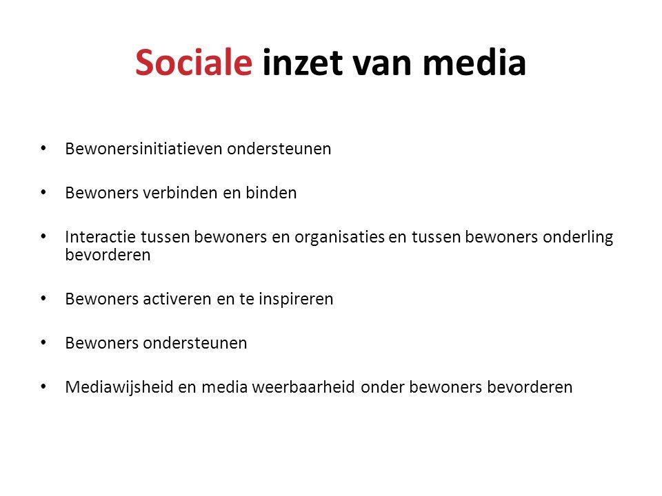 Sociale inzet van media