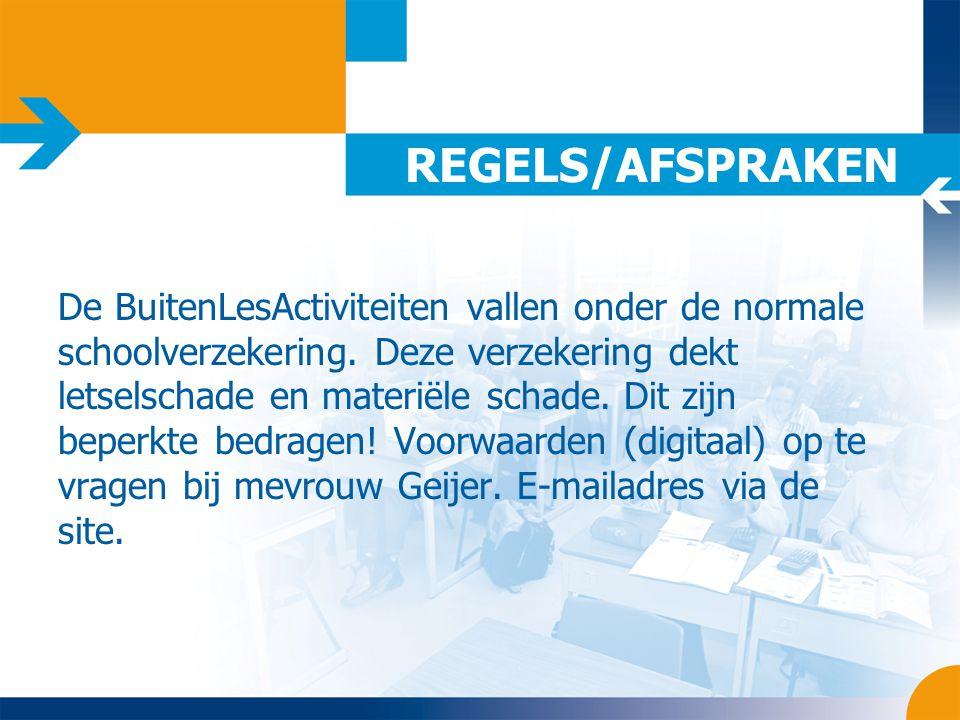 REGELS/AFSPRAKEN