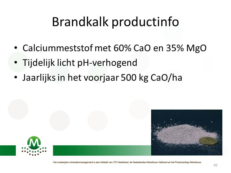 Brandkalk productinfo