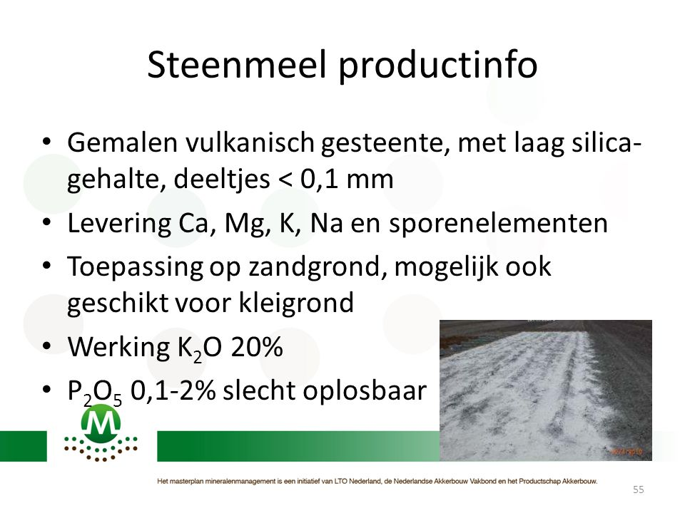 Steenmeel productinfo