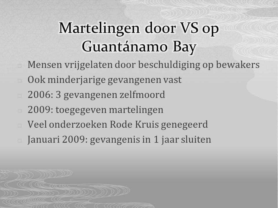 Martelingen door VS op Guantánamo Bay