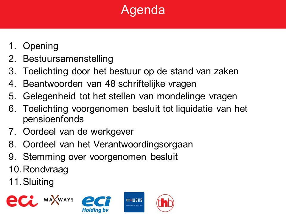 Agenda Opening Bestuursamenstelling