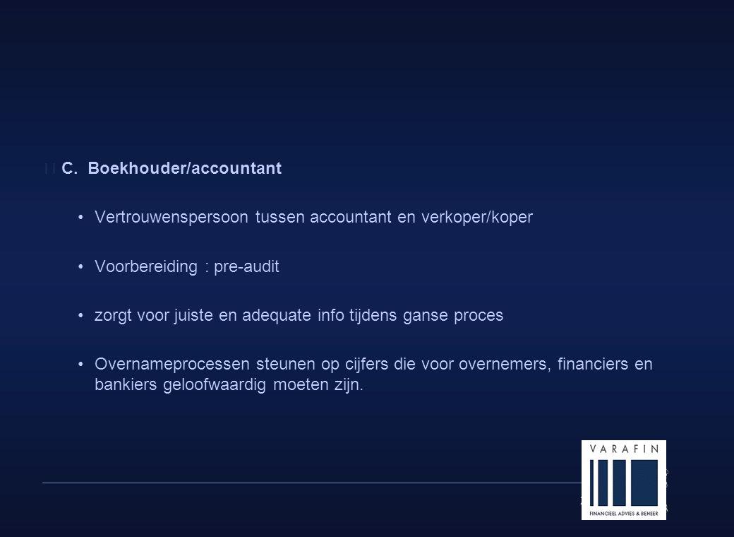 C. Boekhouder/accountant