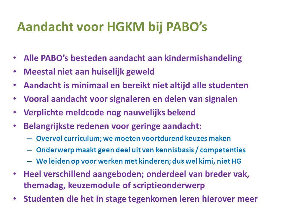 Aandacht voor HGKM bij PABO's