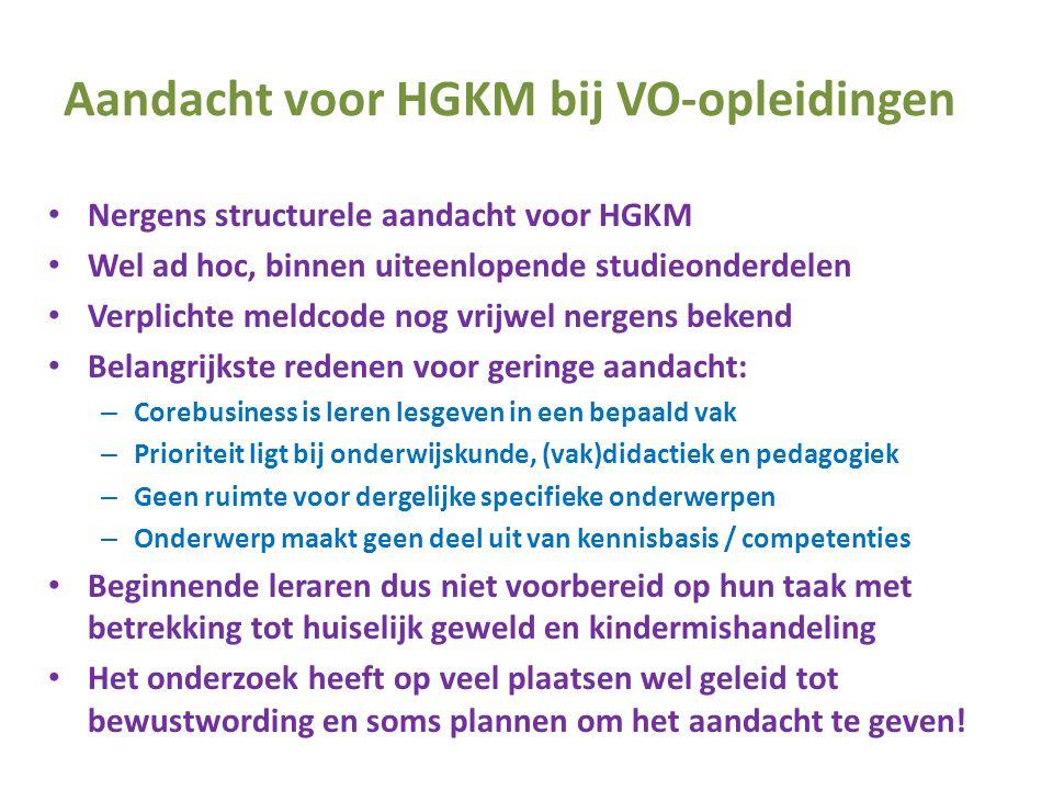 Aandacht voor HGKM bij VO-opleidingen