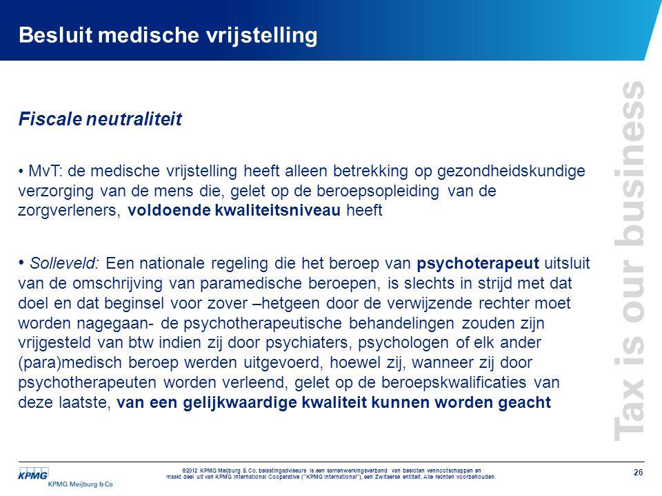 Besluit medische vrijstelling