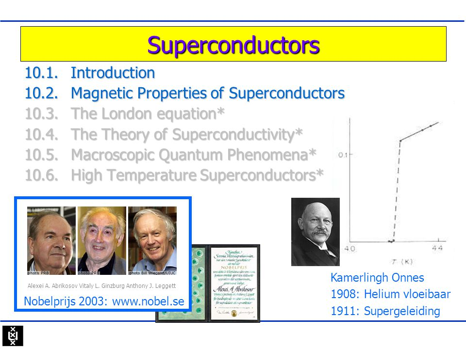 Superconductors 10.1. Introduction