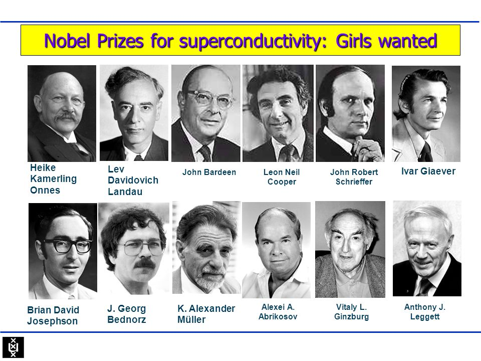 Nobel Prizes for superconductivity: Girls wanted