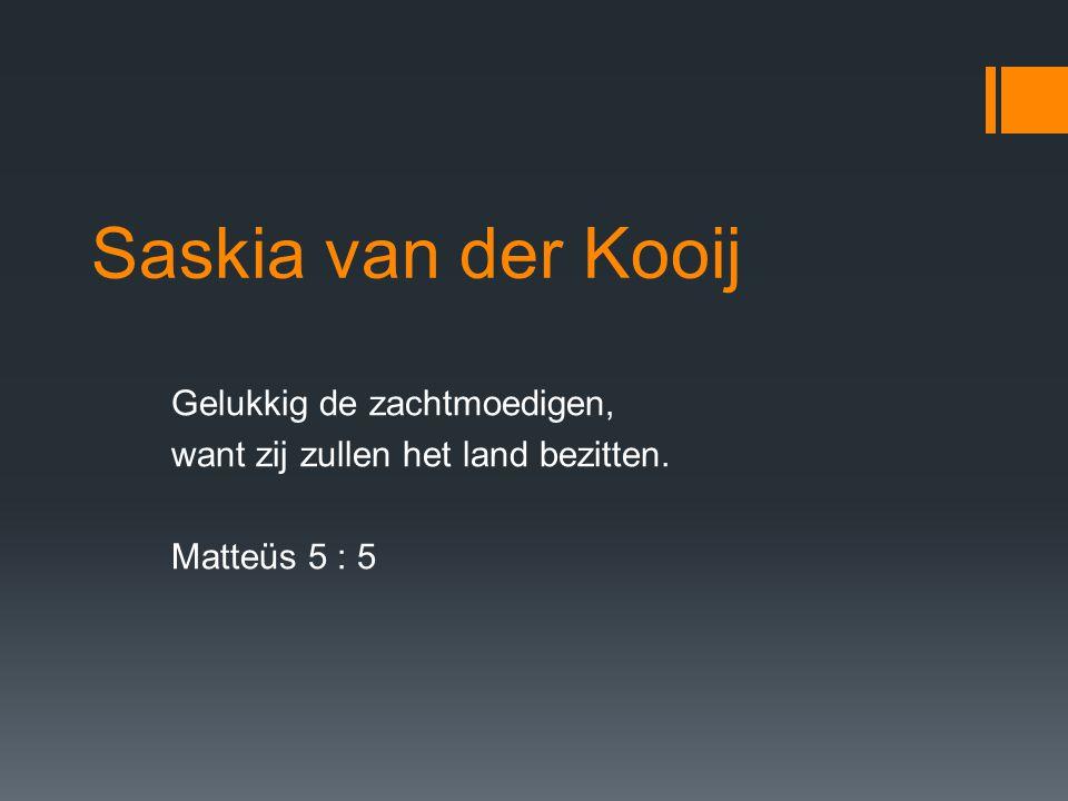 Saskia van der Kooij Gelukkig de zachtmoedigen,