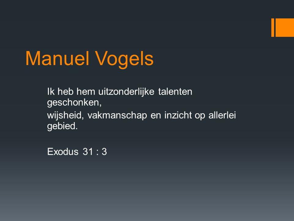 Manuel Vogels Ik heb hem uitzonderlijke talenten geschonken,