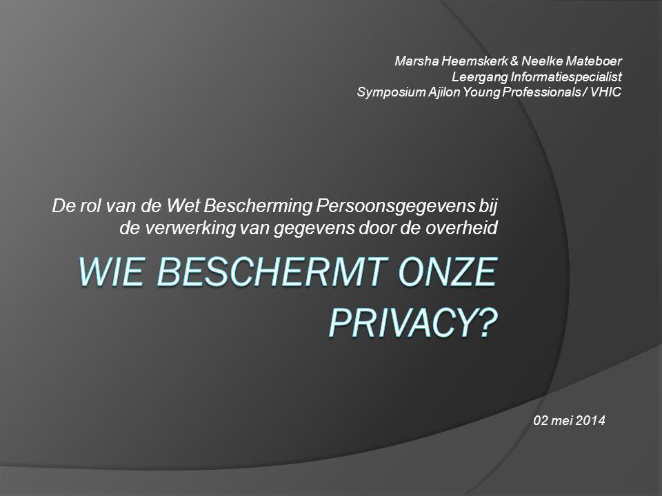 Wie beschermt onze privacy