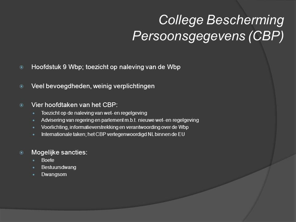 College Bescherming Persoonsgegevens (CBP)