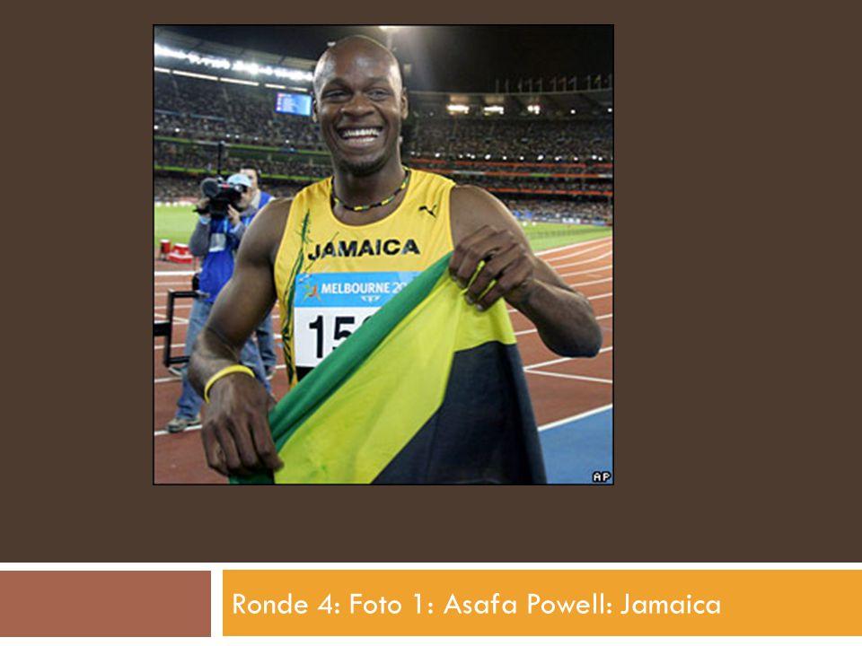 Ronde 4: Foto 1: Asafa Powell: Jamaica