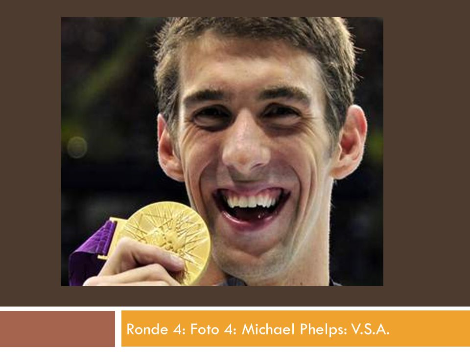 Ronde 4: Foto 4: Michael Phelps: V.S.A.