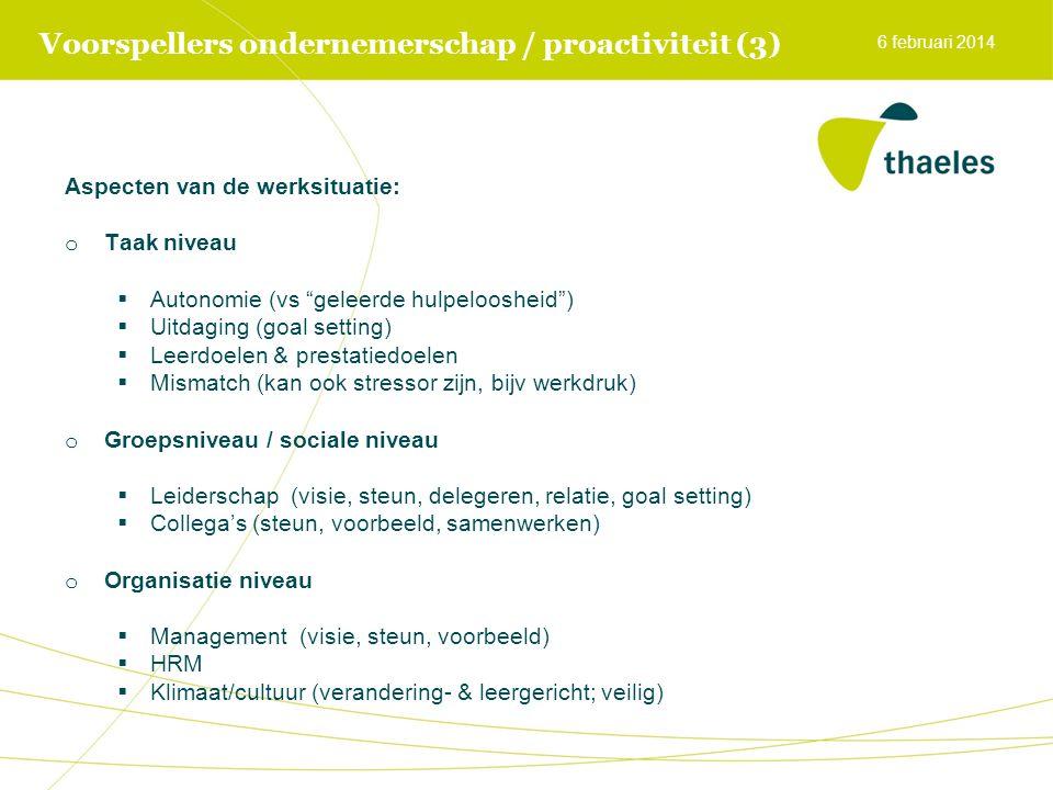 Voorspellers ondernemerschap / proactiviteit (3)