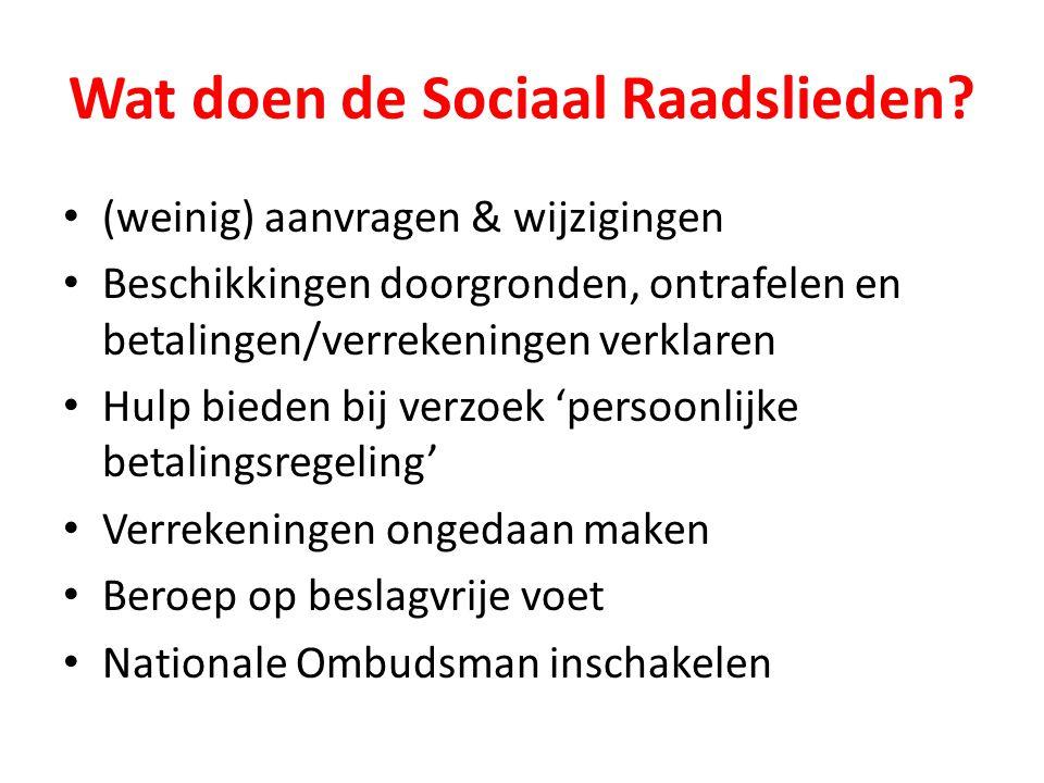 Wat doen de Sociaal Raadslieden