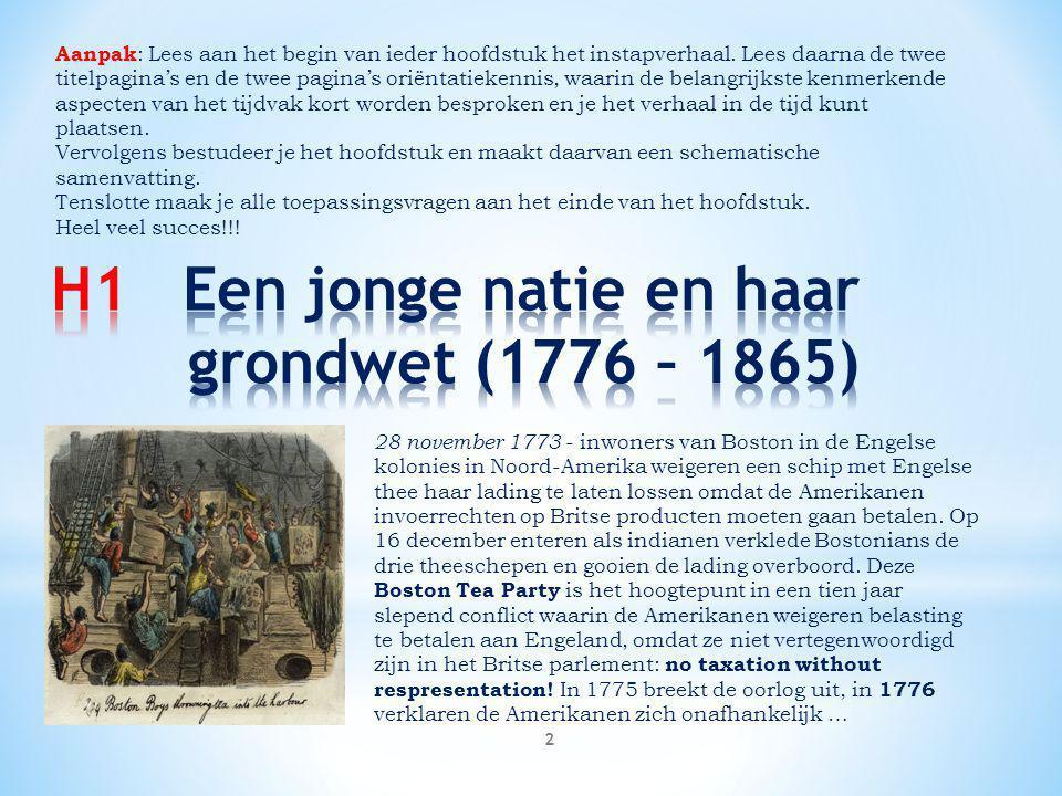 H1 Een jonge natie en haar grondwet (1776 – 1865)