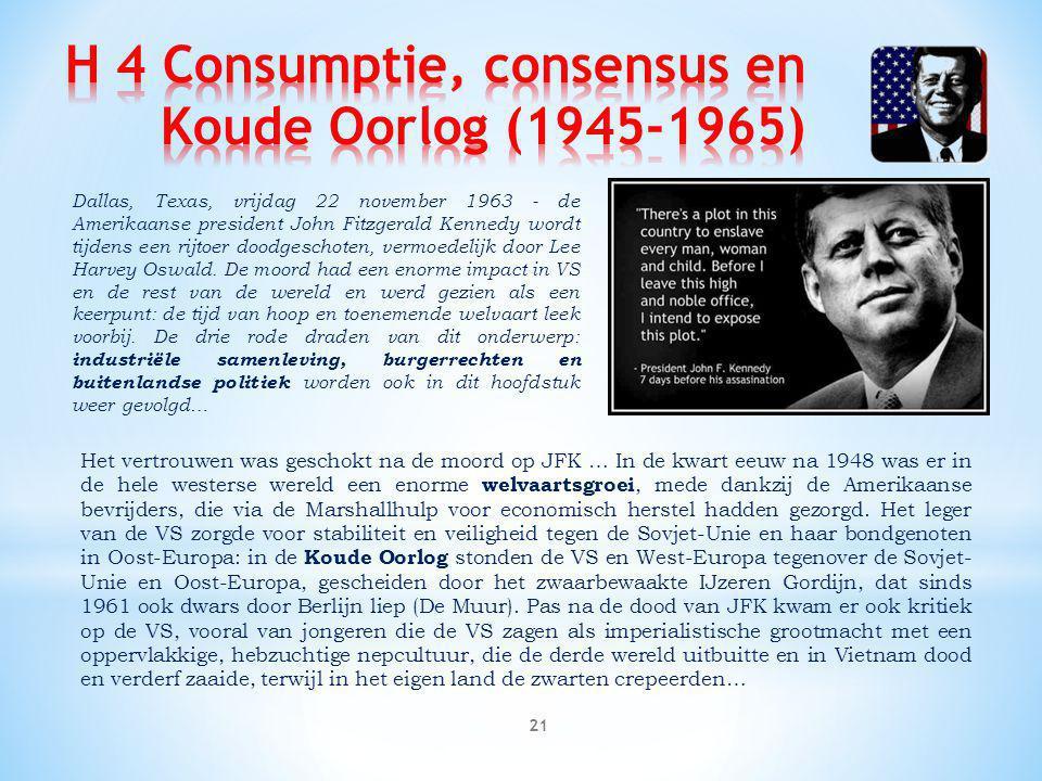 H 4 Consumptie, consensus en Koude Oorlog (1945-1965)