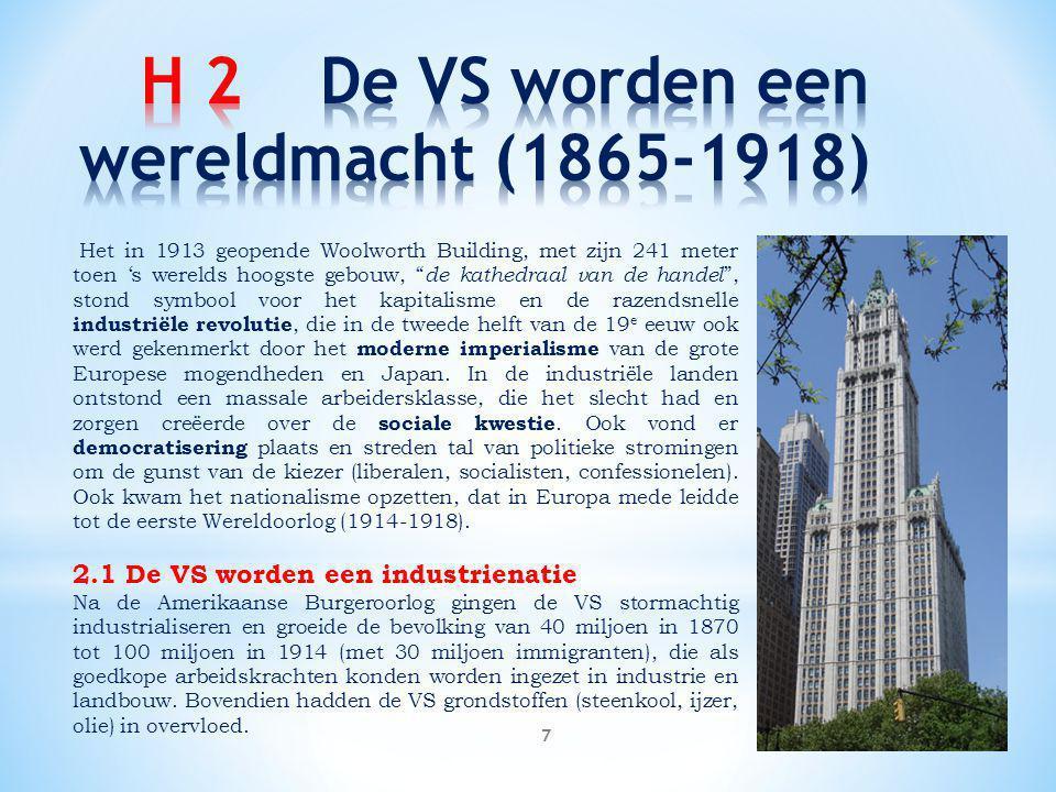 H 2 De VS worden een wereldmacht (1865-1918)