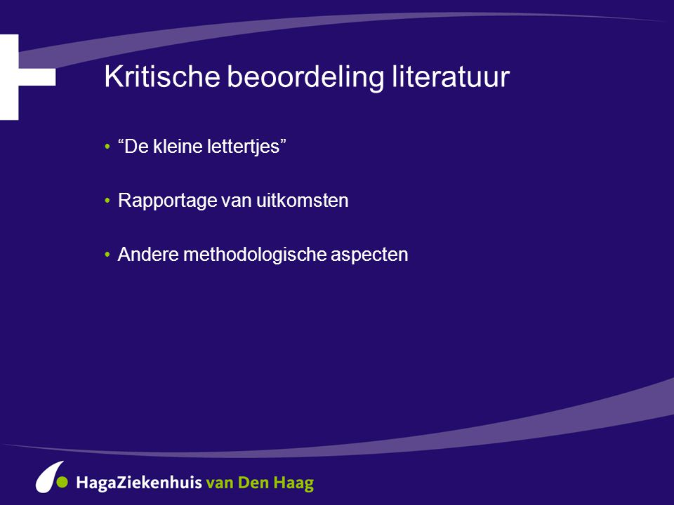 Kritische beoordeling literatuur