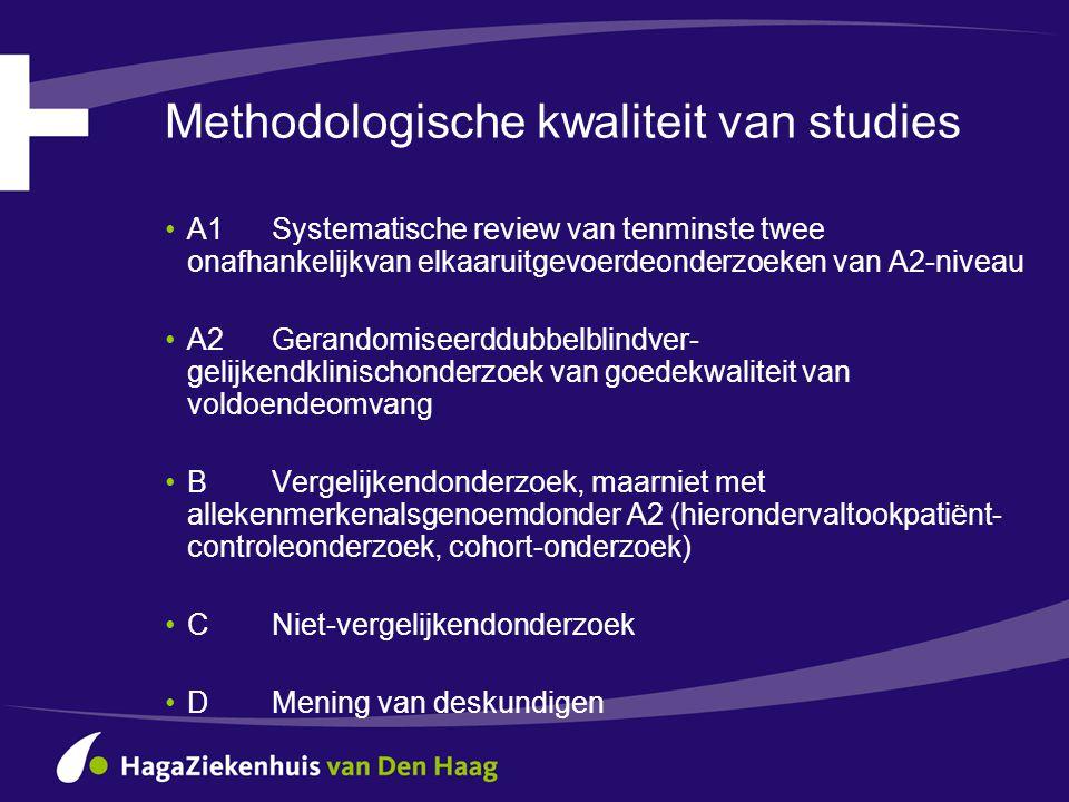 Methodologische kwaliteit van studies