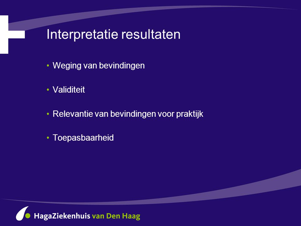 Interpretatie resultaten