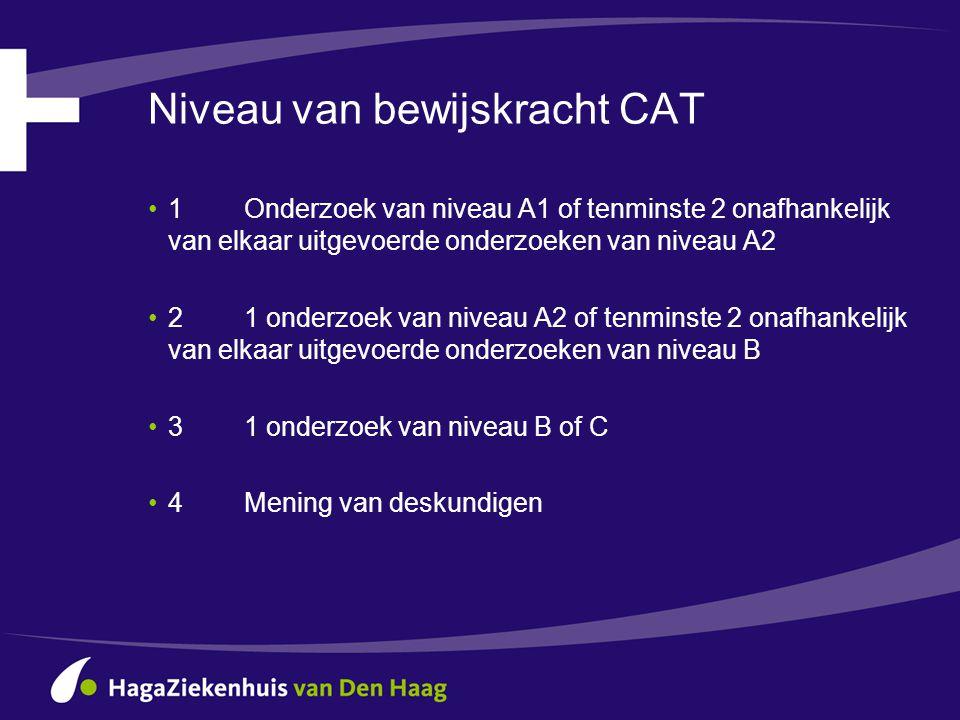 Niveau van bewijskracht CAT