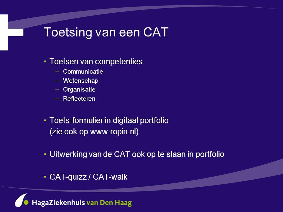 Toetsing van een CAT Toetsen van competenties