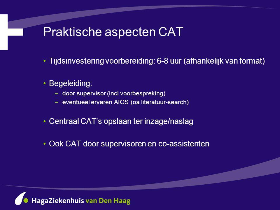 Praktische aspecten CAT