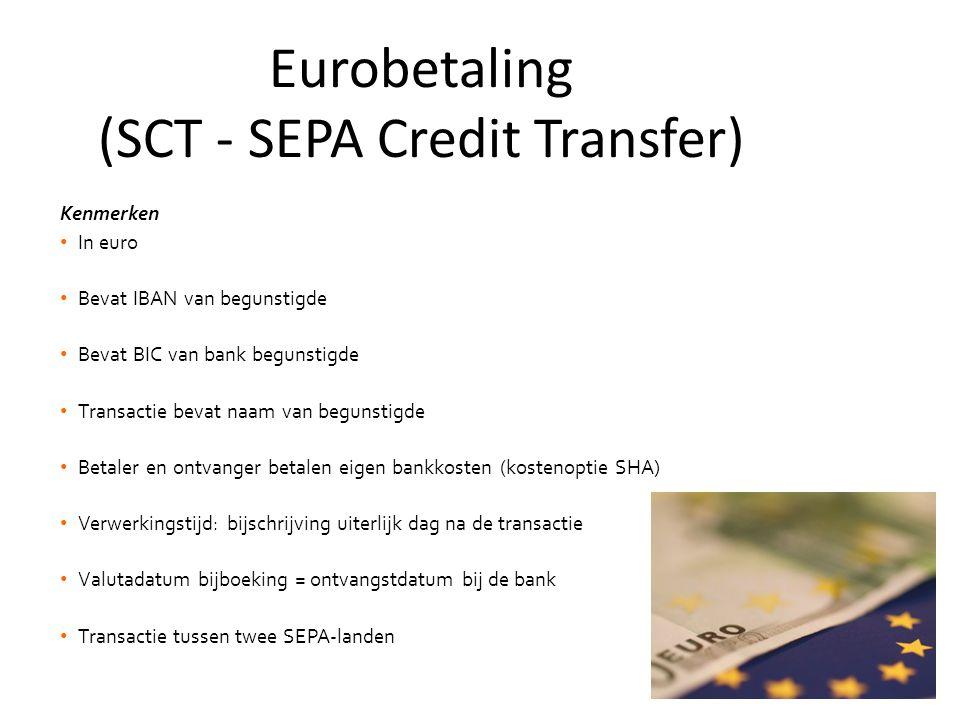 Eurobetaling (SCT - SEPA Credit Transfer)