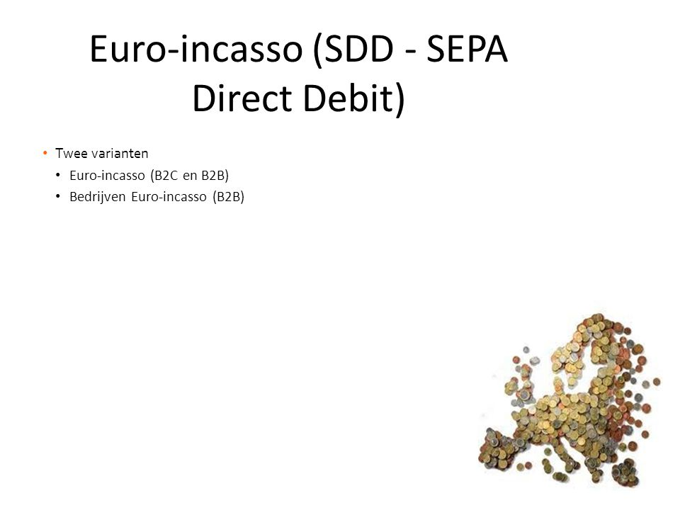 Euro-incasso (SDD - SEPA Direct Debit)