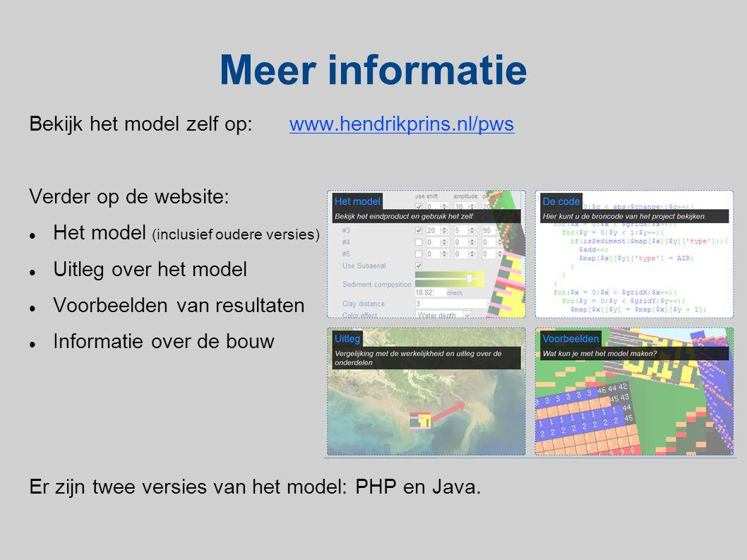 Meer informatie Bekijk het model zelf op: www.hendrikprins.nl/pws