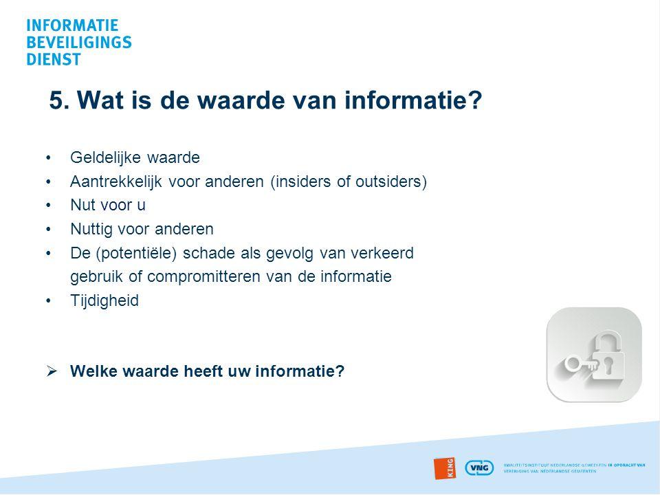 5. Wat is de waarde van informatie