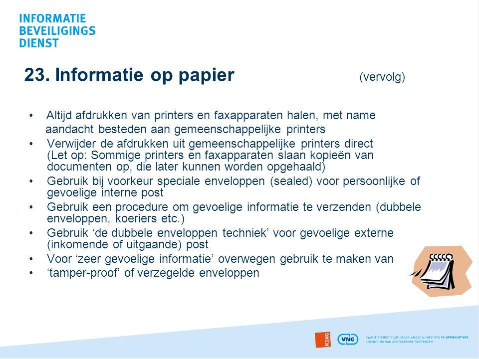 23. Informatie op papier (vervolg)