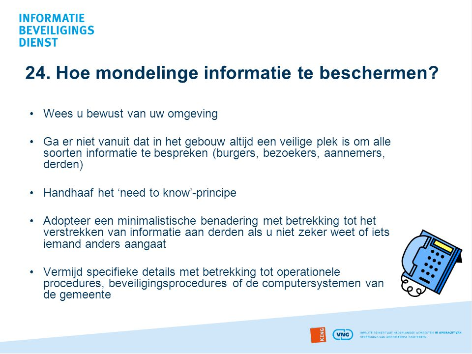 24. Hoe mondelinge informatie te beschermen