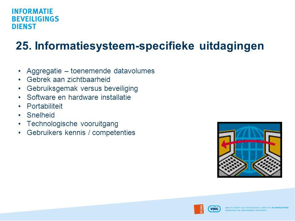 25. Informatiesysteem-specifieke uitdagingen