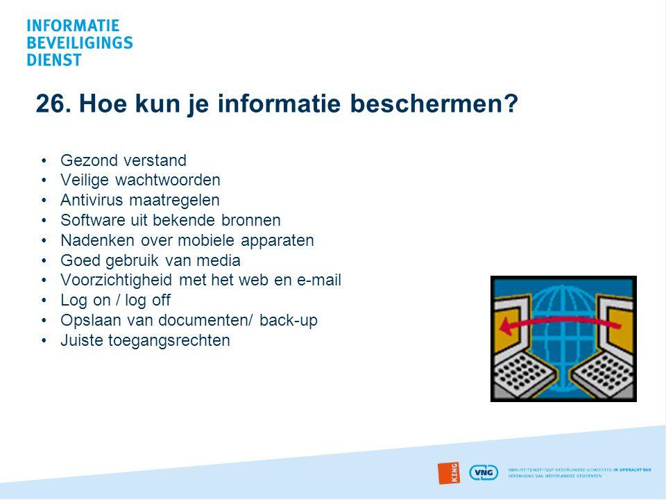 26. Hoe kun je informatie beschermen
