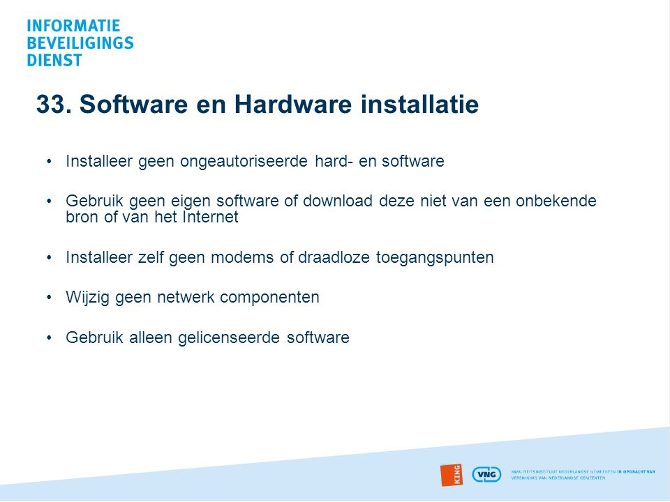 33. Software en Hardware installatie