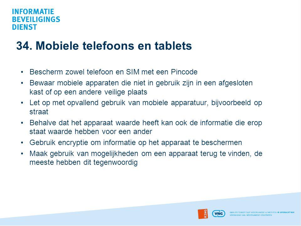 34. Mobiele telefoons en tablets