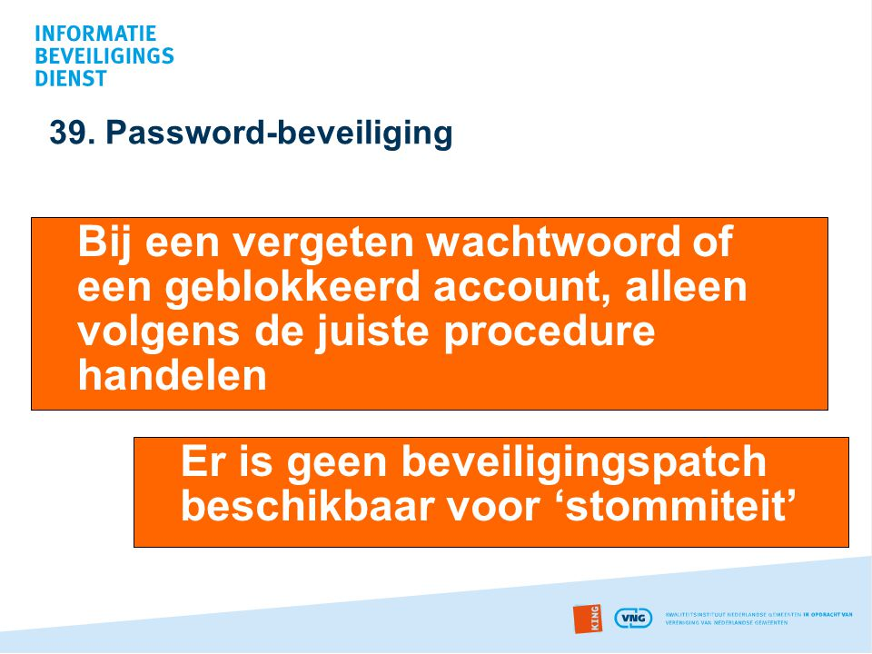 39. Password-beveiliging