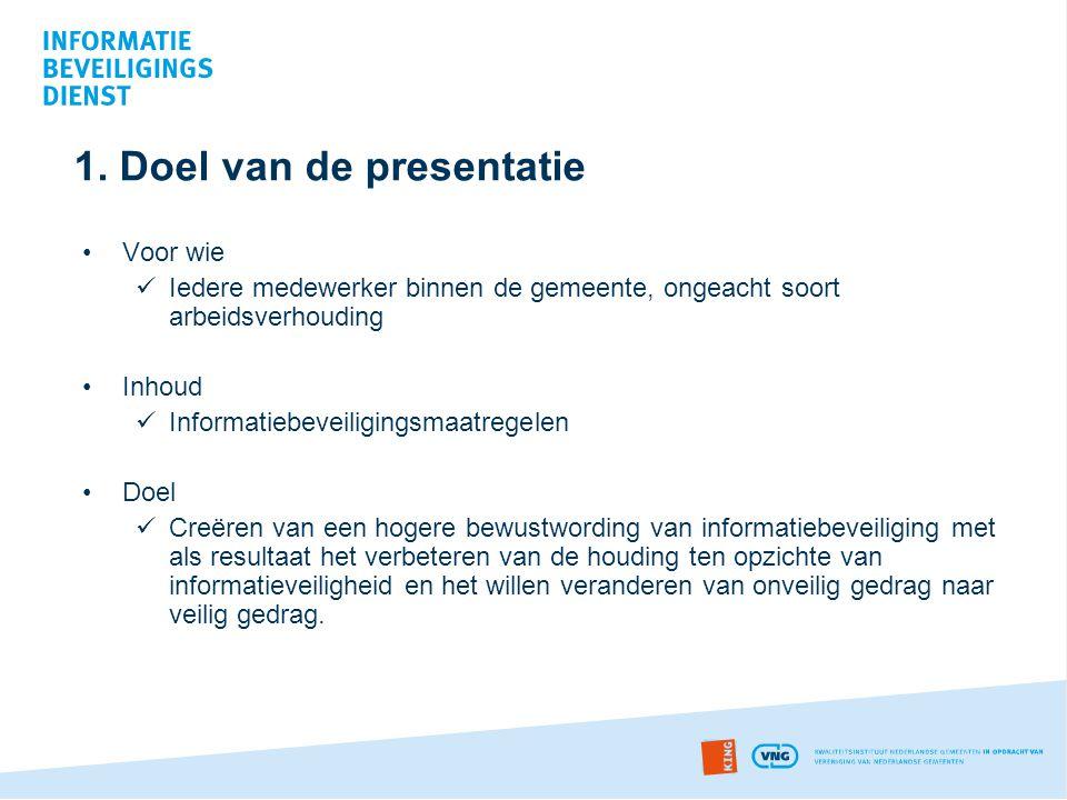 1. Doel van de presentatie