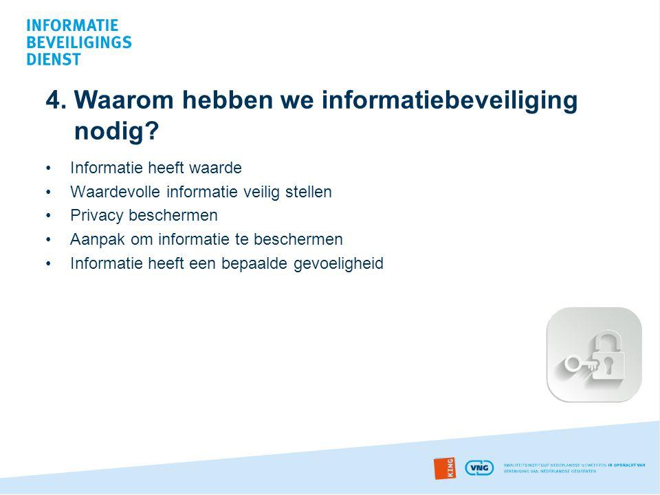 4. Waarom hebben we informatiebeveiliging nodig