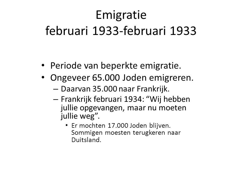 Emigratie februari 1933-februari 1933