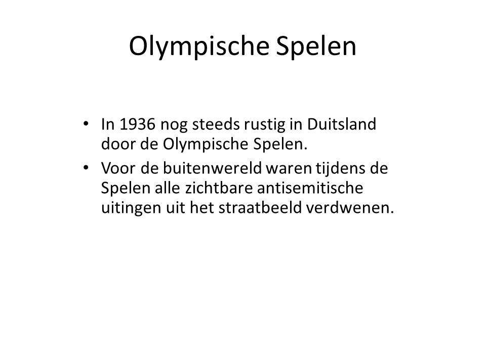Olympische Spelen In 1936 nog steeds rustig in Duitsland door de Olympische Spelen.