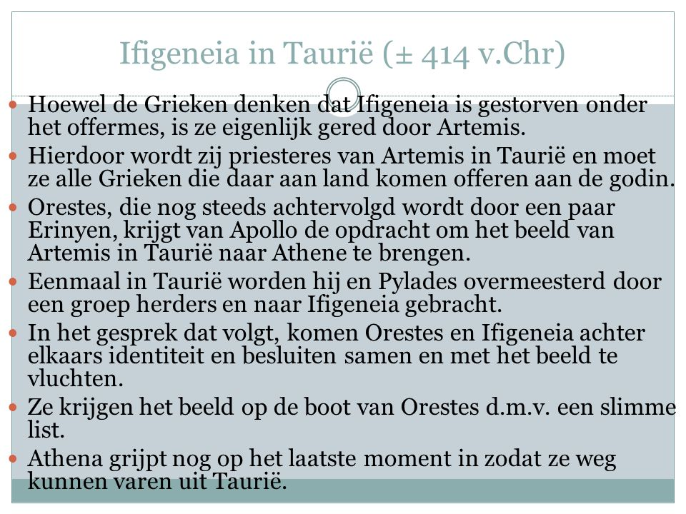 Ifigeneia in Taurië (± 414 v.Chr)
