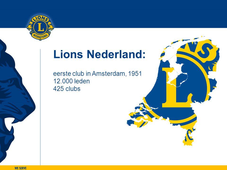 Lions Nederland: eerste club in Amsterdam, 1951 12.000 leden 425 clubs