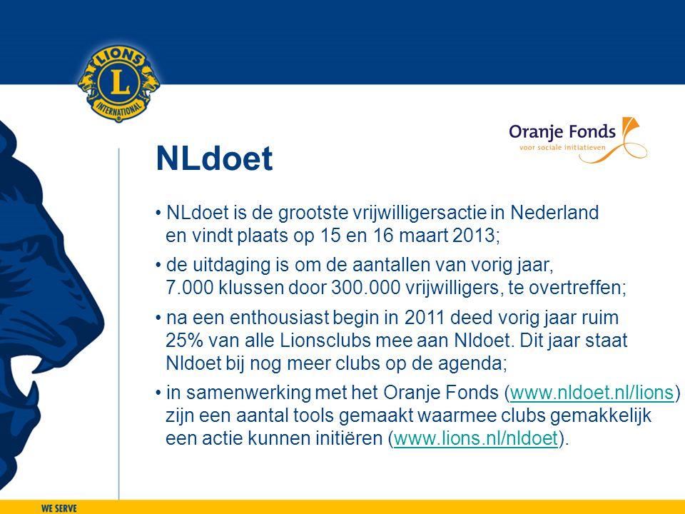 NLdoet NLdoet is de grootste vrijwilligersactie in Nederland