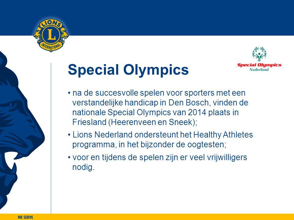 Special Olympics na de succesvolle spelen voor sporters met een